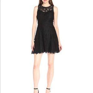 Adelyn Rae black lace dress